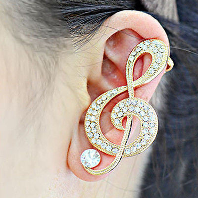 Crystal Heart Ear Cuff