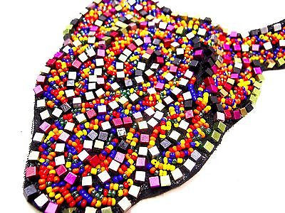 Multicolor Tribal Statement Necklace