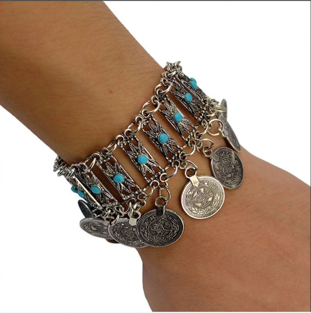 Tribal Coin Bracelet