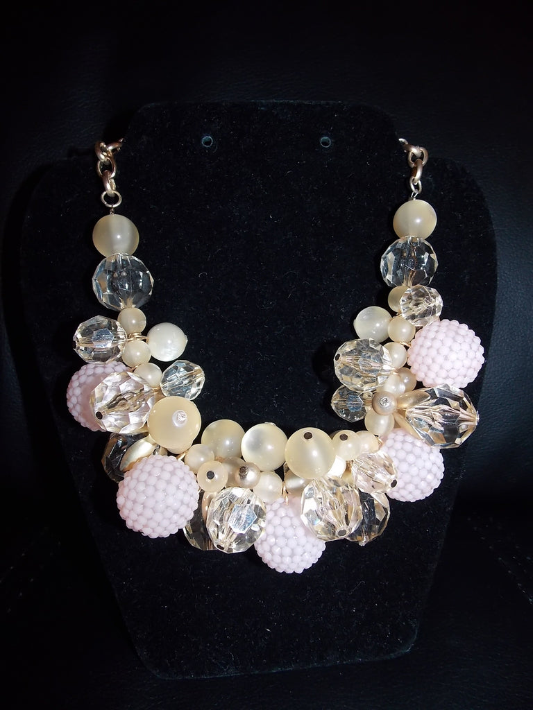 Pink Cluster Necklace