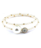 Pearl and Crystal Wrap Bracelet