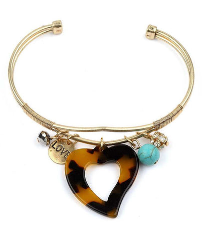 Abstract Metal Toggle Bracelet