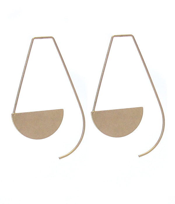 Abstract Gold Tone Earrings
