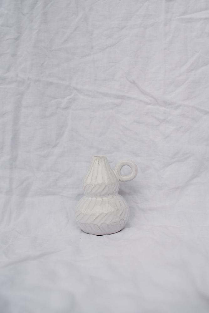 DECO VASE - WHITE TERRACOTTA