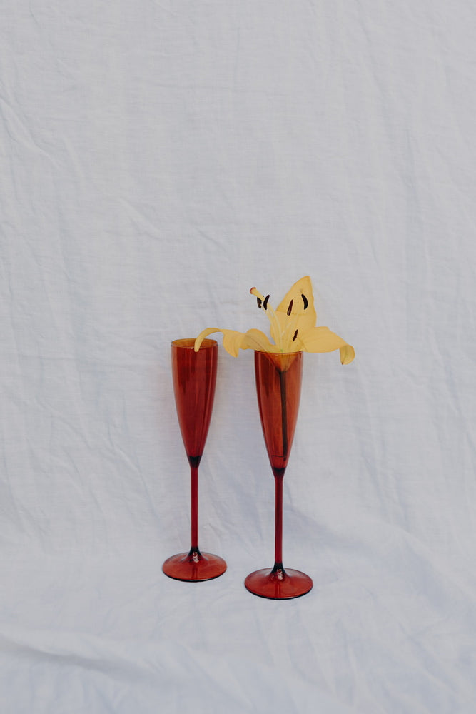 Load image into Gallery viewer, SET OF 2 FLUTES - AMBER