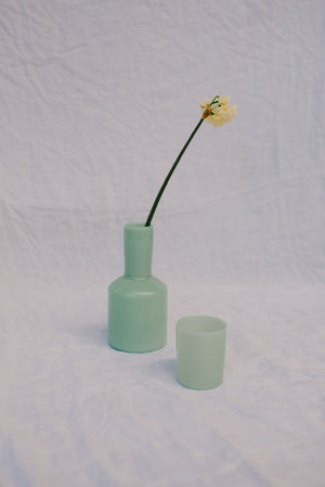 Load image into Gallery viewer, J'AI SOIF CARAFE & GLASS - MINT GREEN