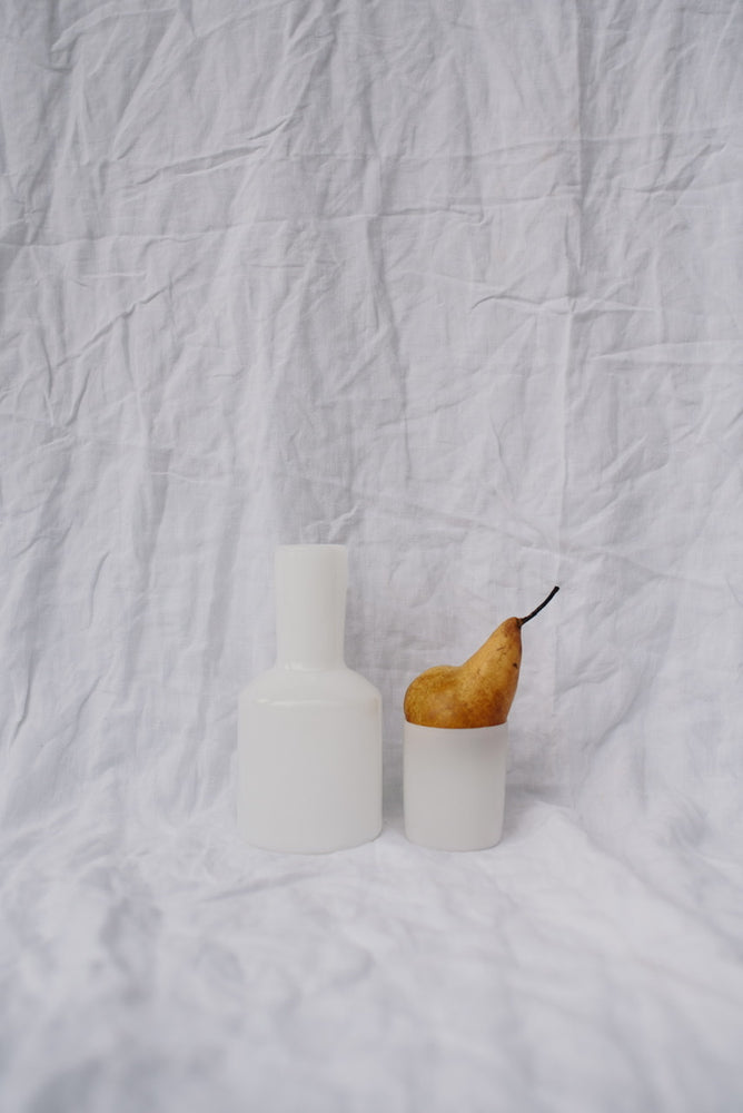 Load image into Gallery viewer, J'AI SOIF CARAFE & GLASS - WHITE