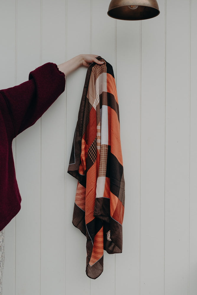 JULIET SCARF - CHOCOLATE