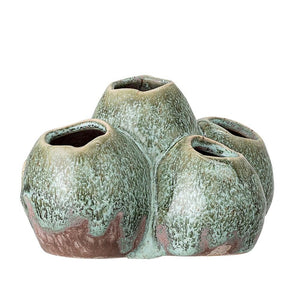Load image into Gallery viewer, STONEWARE VASE - GREEN