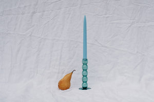 VOLUTE CANDLE HOLDER - TEAL