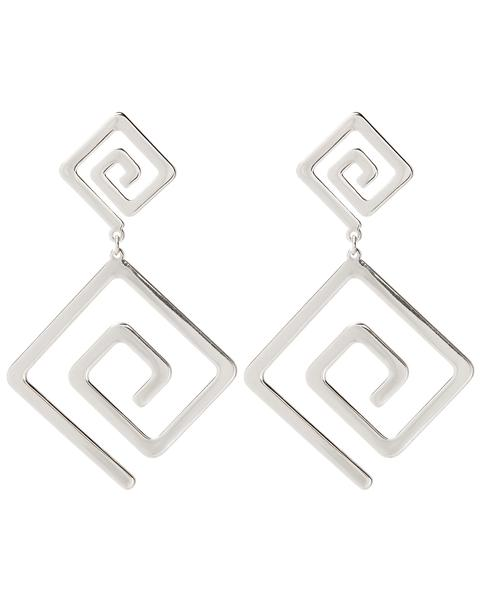 ATHENS STATEMENT EARRINGS - SILVER