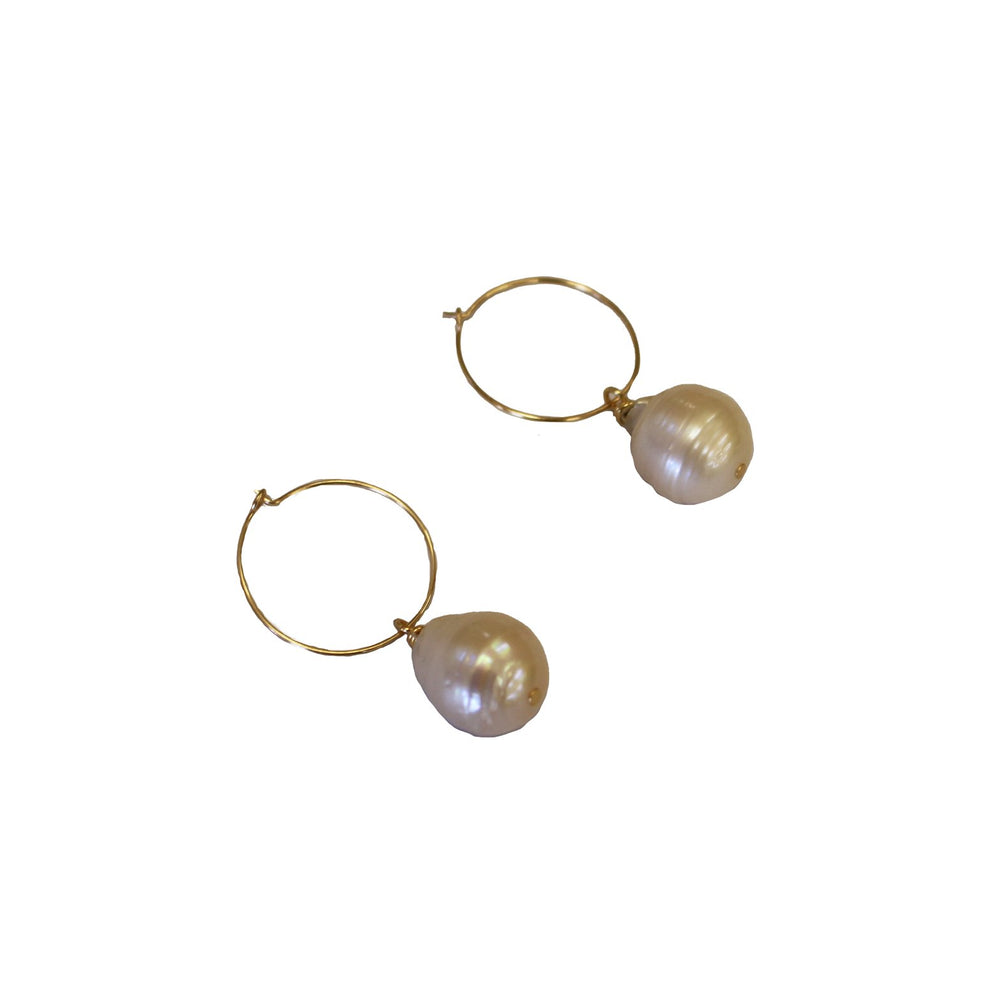 Load image into Gallery viewer, BAROQUE HOOP EARRING