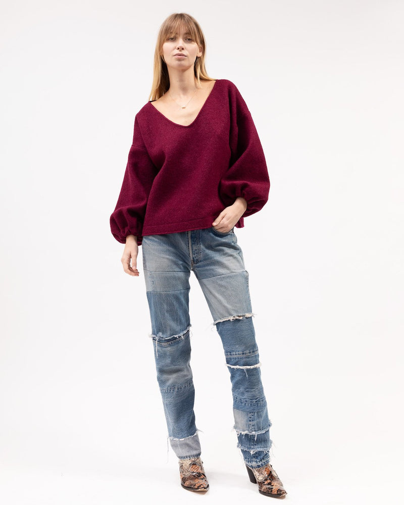 MINKA JUMPER - BOILED MERINO - WINE