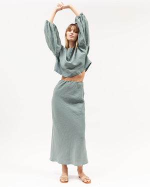 BIAS SKIRT - SEAFOAM