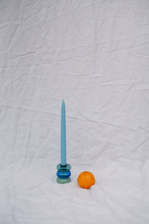 PETITE PAULINE CANDLE HOLDER - TEAL/AZURE/MINT
