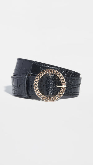 THE BLAIR CHAIN LINK BELT - BLACK/GOLD