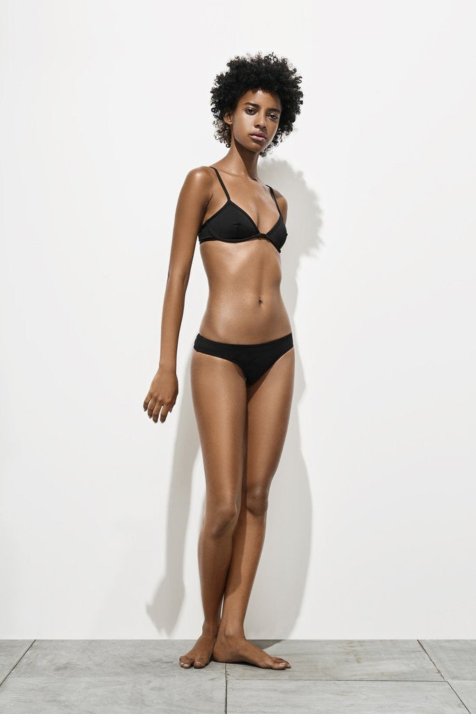 her. swimwear - Isabel Low Set COAL BLACK
