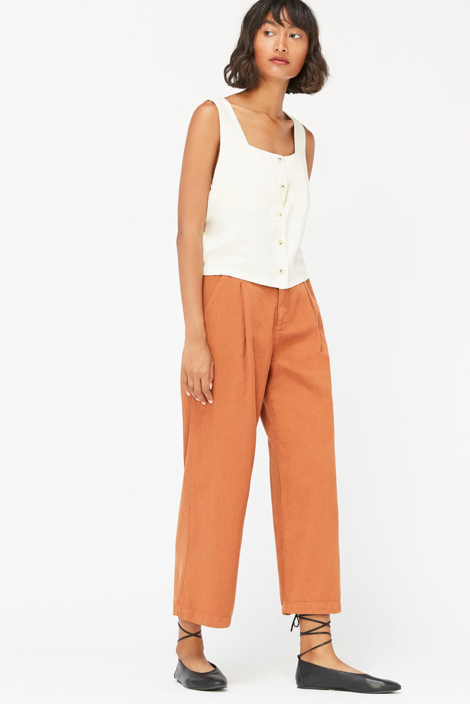 LOLA TROUSERS - ALMOND
