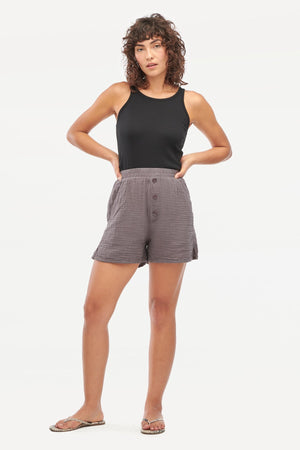 Load image into Gallery viewer, JONI SHORTS - BASALT
