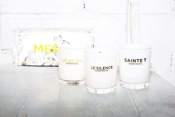 MERCI TRIO CANDLE SET