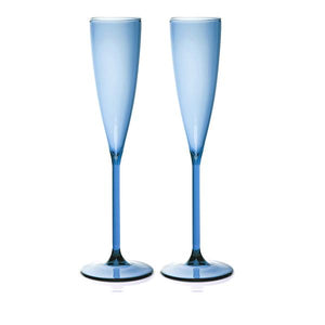 Load image into Gallery viewer, SET OF 2 FLUTES - AZURE