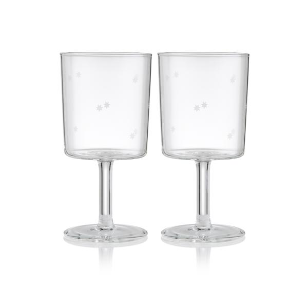 Load image into Gallery viewer, SET OF 2 WINE GLASSES - STAR