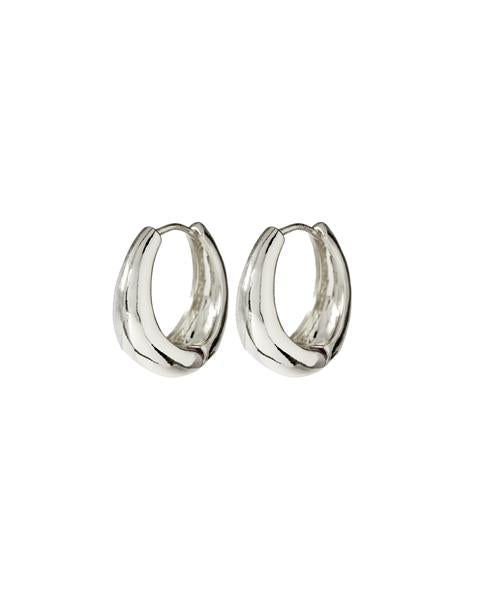 Load image into Gallery viewer, MARBELLA HOOPS - SILVER