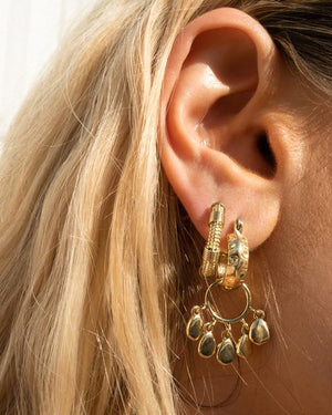 FARAH HOOPS - GOLD
