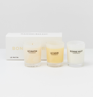 Load image into Gallery viewer, BONNE JOURNEE CANDLE TRIO SET