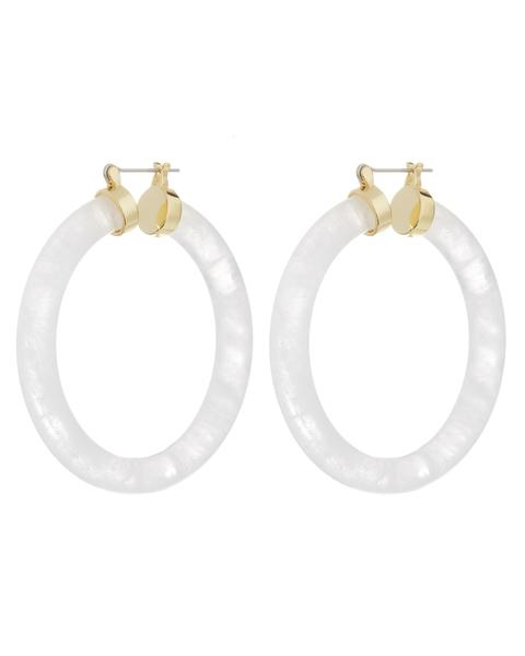 STONE AMALFI HOOPS - CLEAR QUARTZ