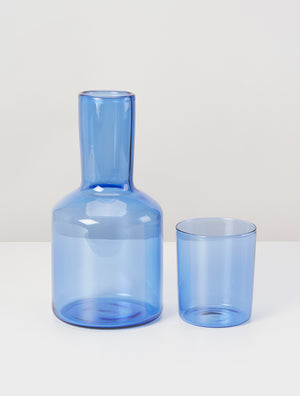 Load image into Gallery viewer, J'AI SOIF CARAFE & GLASS - AZURE
