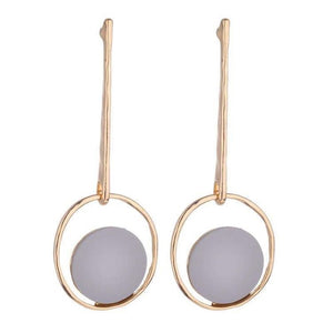 LULU GEOMETRIC EARRINGS - GREY
