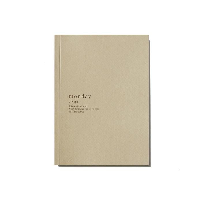 MONDAY LINED NOTEBOOK - BEIGE