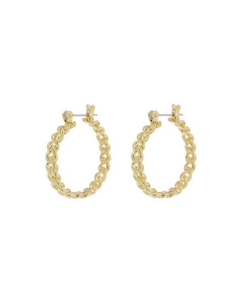 MINI CUBAN LINK HOOPS - GOLD