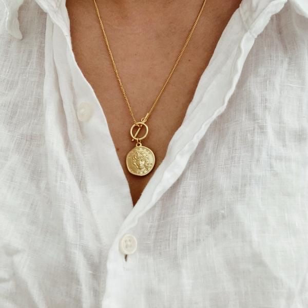 PARIS LOVE COIN NECKLACE