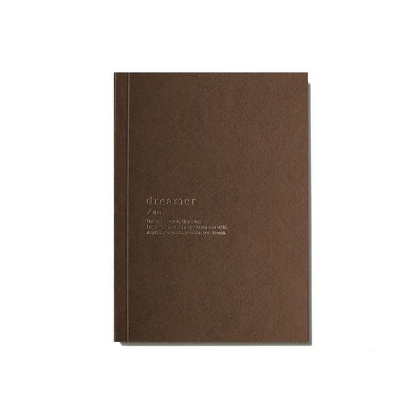 DREAMER BLANK NOTEBOOK - BROWN