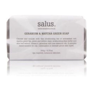 Load image into Gallery viewer, GERANIUM & MATCHA GREEN SOAP