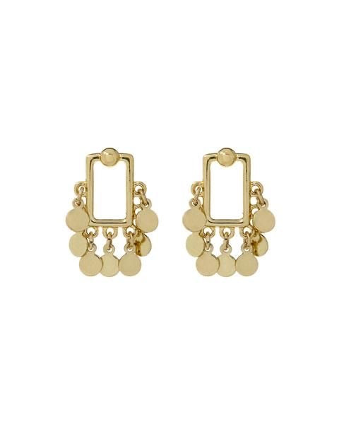 SQUARE SHAKER STUDS - GOLD