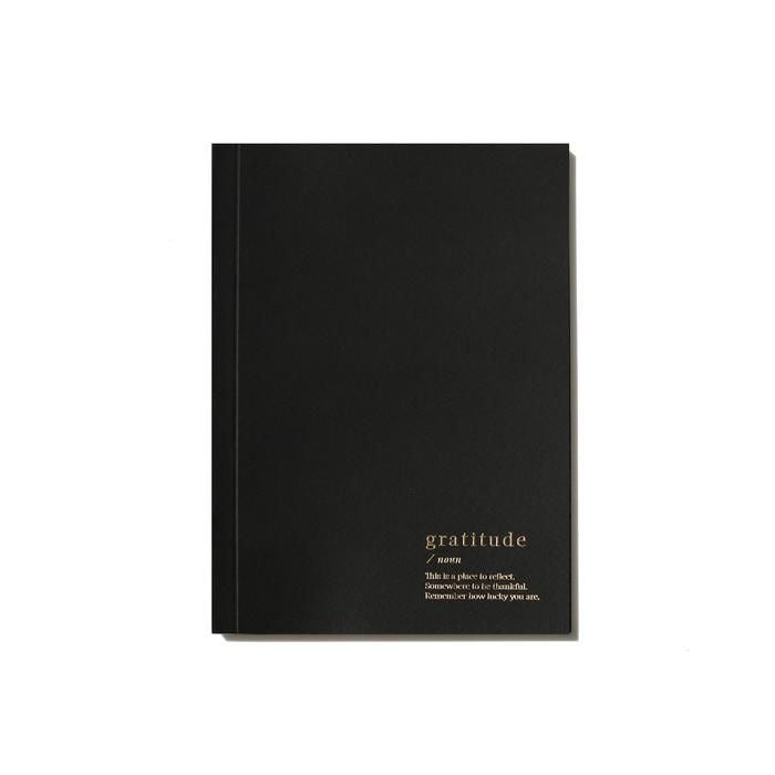 Load image into Gallery viewer, GRATITUDE LINED NOTEBOOK - BLACK
