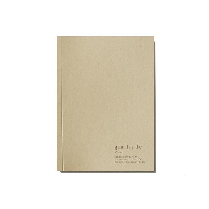 GRATITUDE LINED NOTEBOOK - BEIGE