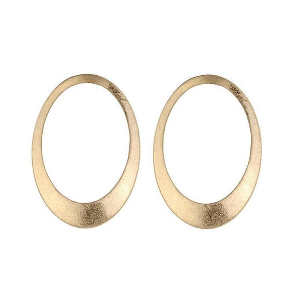 BERNADETTE OVAL EARRINGS