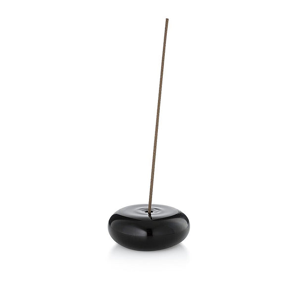 THE PEBBLE INCENSE HOLDER - BLACK