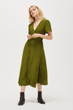 Load image into Gallery viewer, TALLULAH DRESS - MOSS