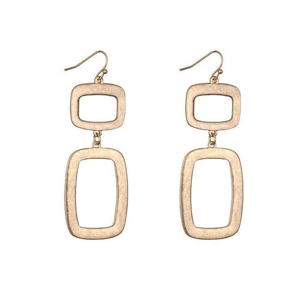 LEONA BRUSHED METAL EARRINGS