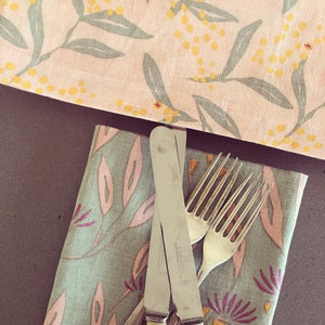 TABLE RUNNER - FLOWERING WATTLE PRINT