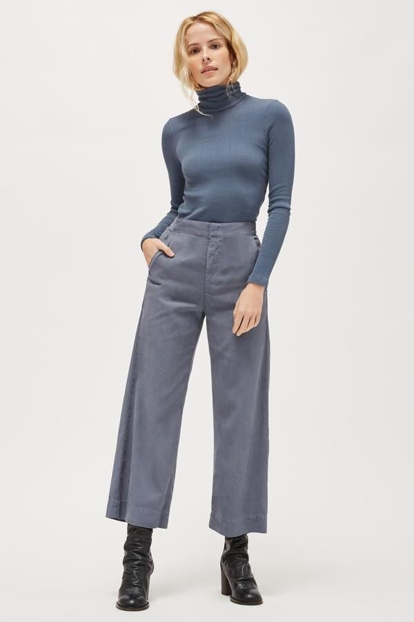 SWEATER RIB TURTLENECK - STEEL