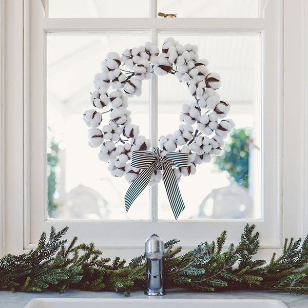 COTTON PLANT WREATH
