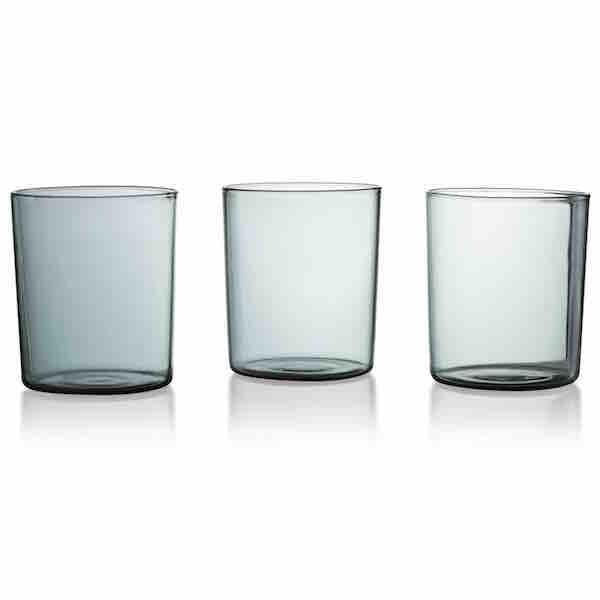 GLASS GOBLETS LARGE SET 4 - SMOKE