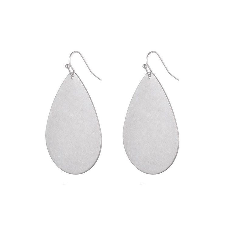 JENNY BRUSHED METAL EARRINGS - GOLD & SILVER