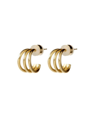 Load image into Gallery viewer, BABY BASTILLE HOOPS - GOLD